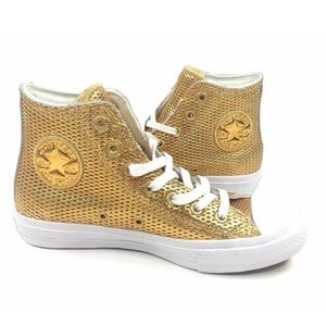 NEW Converse CTAS II Hi Shoes Sneakers Gold Size 8